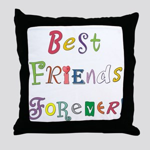 Best Friends Forever Throw Pillow